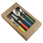 Sale 8705A - Lot 1 - Laguiole Andre Aubrac Multi-Coloured 16-Piece Cutlery Set