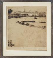 Sale 8762 - Lot 2011 - John Shirlow (1869 - 1936) - Untitled, 1915 (Melbourne) 22.5 x 21cm