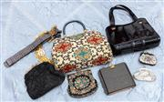 Sale 8804A - Lot 155 - A collection of embroidered bags and Glomesh purses