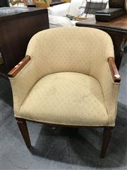 Sale 8805 - Lot 1085 - Pair of Upholstered Tub Chairs