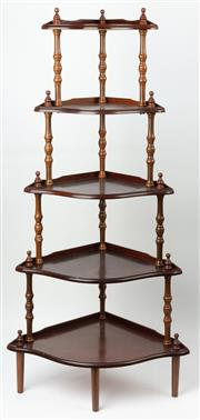 Sale 8873A - Lot 56 - A Victorian style corner whatnot with turn supports