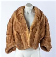 Sale 9003F - Lot 3 - A Mink Bolero Jacket, size S (Stiching Coming away and minor hole under collar)
