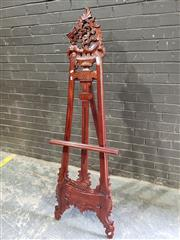 Sale 8979 - Lot 1009 - Decretive Mahogany Easel (h:153 x w:56cm)