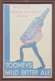 Sale 9002 - Lot 1078 - Framed Vintage Tooheys Mild Bitter Ale Poster by Publicity Studios, Sydney (h:108 x w:82cm)