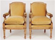 Sale 9087H - Lot 57 - A good pair of Antique French Bergères with original gilding