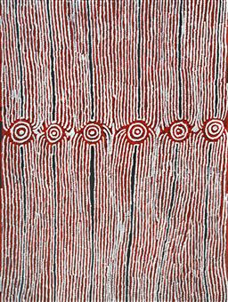 Sale 9120K - Lot 50 - Glenys Gibson Nungurrayi (1968 - ) - Womens Ceremony 151 x 201 cm (stretched and ready to hang)