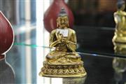 Sale 8308 - Lot 6 - Gilt Bronze Buddha