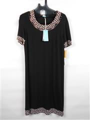 Sale 8514H - Lot 54 - Musetto of Italy Black Short Sleeve Dress with B&W trim - UK size 10