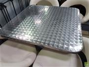 Sale 8601 - Lot 1362 - Brushed Stainless Steel Cafe Table