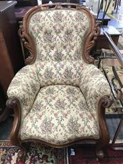 Sale 8822 - Lot 1565 - Heavily Carved Grandmother Chair