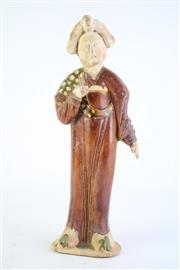 Sale 8840S - Lot 696 - Tang style Sancai Fat Lady figure H: 33 cm