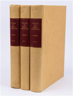 Sale 9130S - Lot 29 - Three volumes Flinders Voyage to Terra Australis, facsimile edition Adelaide 1966 VOLS I, II and Charts