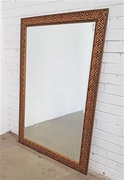 Sale 9137 - Lot 1091 - Gilt framed mirror (h:174 x w:97cm)