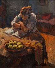 Sale 8657A - Lot 5015 - Jose Font Sellabona (1925 - 2010) - Meditation 45 x 37cm