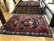 Sale 8809 - Lot 1049 - Three Persian Door Mats (Approx. 50 x 60cm)