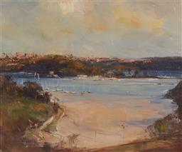 Sale 9133 - Lot 582 - Robert Hagan (1947 - ) Fisher Bay oil on canvas 49.5 x 59.5 cm (frame: 76 x 86 x 8 cm) signed lower left