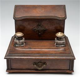 Sale 9211 - Lot 70 - An Antique Ink Stand (H:23cm W:26cm D:21cm)