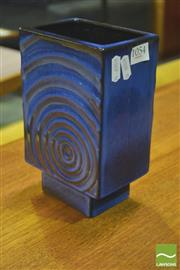 Sale 8310 - Lot 1054 - Cyclone Blue Square Form Vase