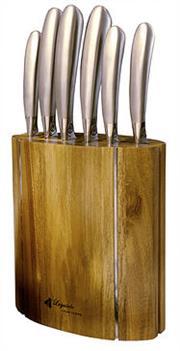 Sale 8340B - Lot 12 - Laguiole by Louis Thiers Mondial 7-Piece Knife Block Set RRP $800