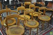 Sale 8341 - Lot 1092 - Set of Seven Polish Bentwood Carvers