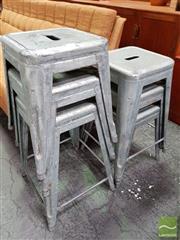 Sale 8493 - Lot 1073 - Set of 6 Original Thornet Metal Stools