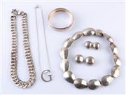 Sale 8550F - Lot 68 - A quantity of jewellery including Mexican silver, necklaces, bracelet, clip ons etc.