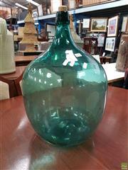 Sale 8611 - Lot 1020 - Large Green Glass Bottle