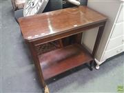Sale 8648C - Lot 1044 - Timber Tea Trolley on Castors