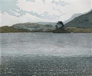Sale 8693A - Lot 5074 - Phil Greenwood - Pine Lake - Cregennan 36 x 41cm