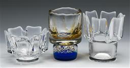 Sale 9148 - Lot 50 - Art glass vase H: 14cm, together with two Orrefors vases