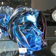 Sale 8304 - Lot 14 - Murano Licio Zanetti Signed Blue Art Glass Bust of a Lady