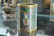 Sale 8308 - Lot 54 - Cloisonne Brush Pot