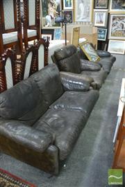Sale 8398 - Lot 1088 - B&B Italia Tobis Scarpa 3 Piece Lounge Suite