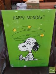 Sale 8421 - Lot 1055 - Vintage and Original Snoopy Poster (50cm x 70.5cm)