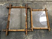 Sale 9039 - Lot 1050 - Pair of Graduating Simulated Bamboo Mirrors (H59 x W47cm)