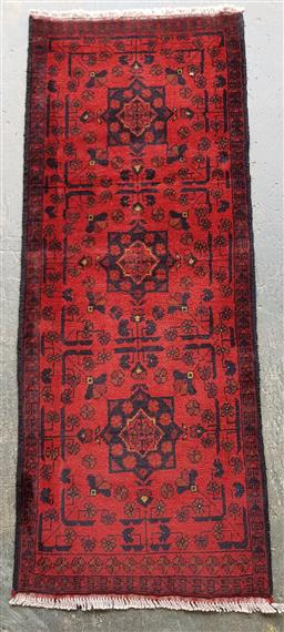 Sale 9157 - Lot 1085A - Red tone Hand knotted pure wool Afghan khal mohammadi (150 x 50cm)