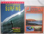 Sale 8431B - Lot 24 - Mark Warren. Atlas of Australian Surfing Where, When and How to Surf over 1000 Waves around Australia, Cornstalk 1994. Hardback with...