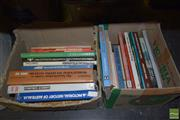 Sale 8509 - Lot 2235 - 2 Boxes of Books incl The Naval Institute Guide to World Naval Weapons Systems 1991-92