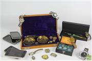 Sale 8521 - Lot 23 - Brass Scales and Weights Together With Mens Watches And Pens