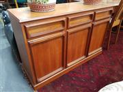 Sale 8676 - Lot 1044 - Chiswell Sideboard with Three Drawers & Doors (H: 77 W: 120 D: 46cm)