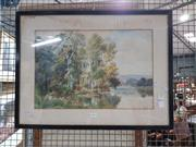 Sale 8699 - Lot 2063 - RW Sale - Lakeside, watercolour, SLR