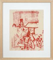 Sale 8741A - Lot 37 - Sidney Nolan (1917 - 1992) - Untitled (Man with Plough), c1944 30 x 25cm