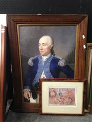 Sale 8767 - Lot 2082 - 2 Works: M. Breese - Pig Print; Captain & Dog Print on canvas