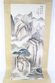 Sale 8802 - Lot 104 - Chinese Scroll Featuring Mountain Scene