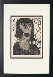 Sale 8870 - Lot 2014 - Neroli Weaver - Artist with Bob Haircut 33.5 x 29cm