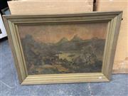 Sale 9061 - Lot 2088 - Artist Unknown Mediterranean Scene, decorative print, frame: 63x 86 cm