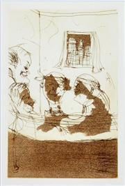 Sale 8506 - Lot 2002 - John Olsen (1928 - ) - The Duttons (Illustration for New York Nowhere), 1999 22 x 14.5cm