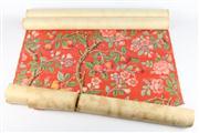 Sale 8445 - Lot 15 - Australian 1970s Floral Wallpaper in 3 Rolls
