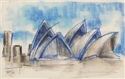 Sale 8575 - Lot 575 - Lloyd Rees (1885 - 1988) - Sydney Opera House, 1978 18.5 x 29cm