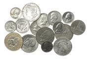 Sale 8584 - Lot 327 - AMERICAN COINS; 2 x  Morgan $1 (90% silver) ExF, 4 x Eisenhower $1 (40%silver), 1 x Franklin Half Dollar, 1948 D (90%), 4 x Kennedy...